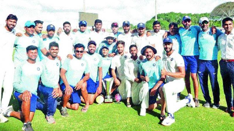 India 'A' won the unofficial three-match Test series against West Indies 'A'.  (Photo: Twitter)