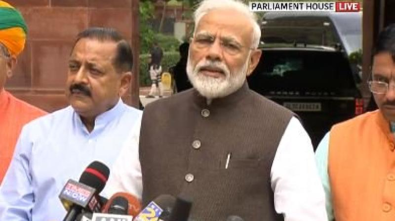 Modi also said the new House has a high number of women MPs.  (Photo: ANI | Twitter)