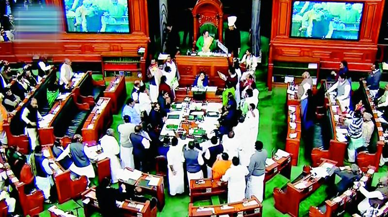 View of the Lok Sabha during a discussion on the issues relating to Rafale deal.