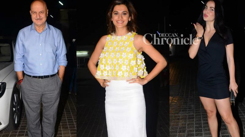 Numerous stars from the film industry were present for a screening of the Taapsee Pannu-starrer 'Naam Shabana' in Mumbai on Wednesday. (Photo: Viral Bhayani)