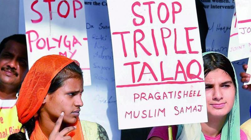 Petitioners have questioned the validity of triple talaq and had argued that it infringed with Muslim women's fundamental right to equality. (Photo: PTI | File)