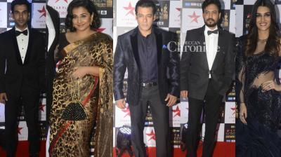 Bollywood celebrities turned up in style for the Star Screen Awards held in Mumbai on  Sunday, with many of them taking home trophies. (Photo: Viral Bhayani)