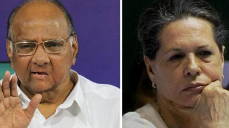 On Monday, Sharad Pawar met Congress interim president Sonia Gandhi in the latter's residence. (Photo: File)