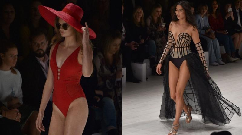 The collection is a contemporary twist on classic, conservative swimwear pieces designed for the modern-day woman. (Photo: AFP)