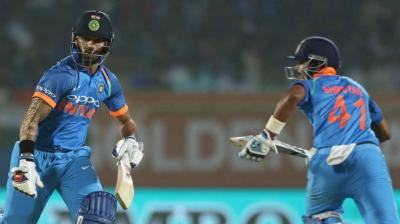Shikhar Dhawan and Shreyas Iyer steered India's innings after Rohit Sharma's dismissal. (Photo: BCCI)