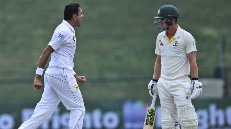 The 28-year-old took 10 for 95 to help Pakistan to their biggest Test win -- a 373-run hammering of Australia -- in the second Test in Abu Dhabi on Friday, giving them a 1-0 series win. He took seven wickets in the drawn first Test in Dubai. (Photo: AP)