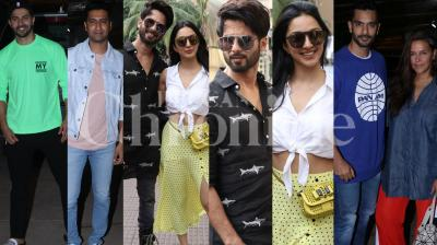 'Kabir Singh' stars Shahid Kapoor, Kiara Advani watched their film at PVR Juhu, whereas Varun Dhawan, Vicky Kaushal and others watched Diljit Dosanjh starrer 'Shadaa'. (Pictures: Viral Bhayani)