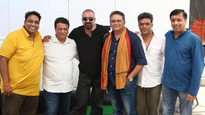 Sanjay Dutt with team 'Bhuj: The Pride of India'.