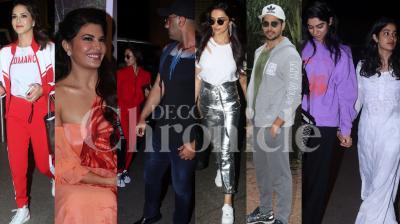 Bollywood stars Deepika Padukone, Arjun Kapoor-Malaika Arora, Jacqueline Fernandez, Janhvi Kapoor-Khushi Kapoor, Parineeti Chopra and others spotted in the city. (Photos: Viral Bhayani)