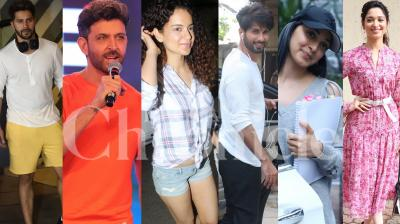 Bollywood stars Hrithik Roshan, Kangana Ranaut, Shahid Kapoor, Kiara Advani, Varun Dhawan, Rajinikanth and others spotted in the city. (Pictures: Viral Bhayani)