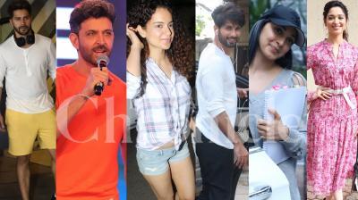 Bollywood stars Hrithik Roshan, Kangana Ranaut, Shahid Kapoor, Kiara Advani, Varun Dhawan, Rajinikanth and othesr spotted in the city. (Pictures: Viral Bhayani)