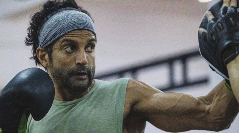 Farhan Akhtar in action.