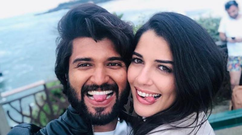 Vijay Deverakonda and Izabelle Leite. (Photo: Instagram)