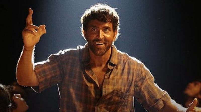 Hrithik Roshan in the still from Super 30.