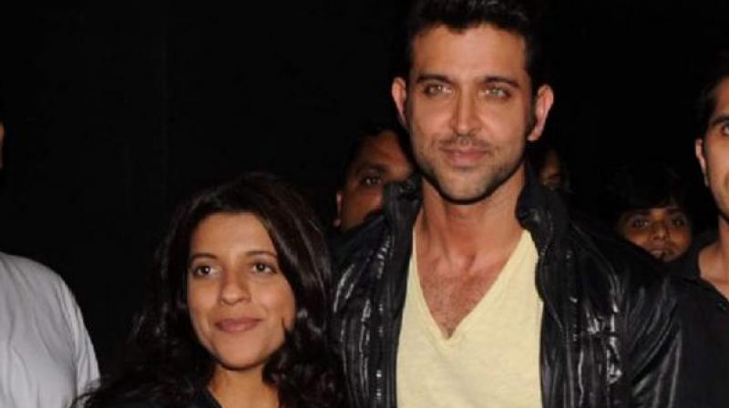 Zoya Akhtar and Hrithik Roshan.
