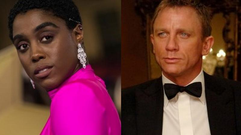 Lashana Lynch and Daniel Craig.