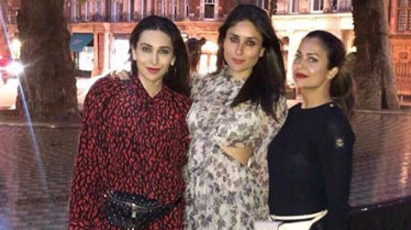 Kareena Kapoor, Karisma Kapoor and Amruta Arora. (Photo: Instagram)