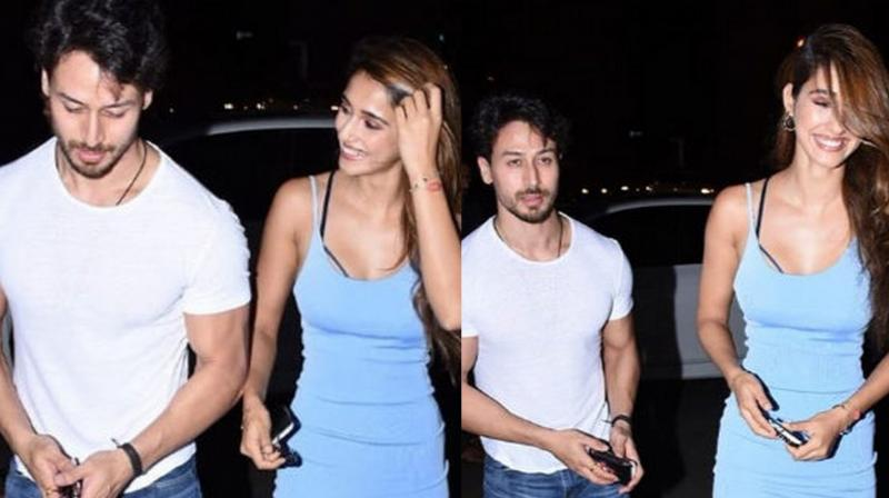 Tiger Shroff and Disha Patani step out for dinner date in Mumbai. (Pictures: Viral Bhayani)
