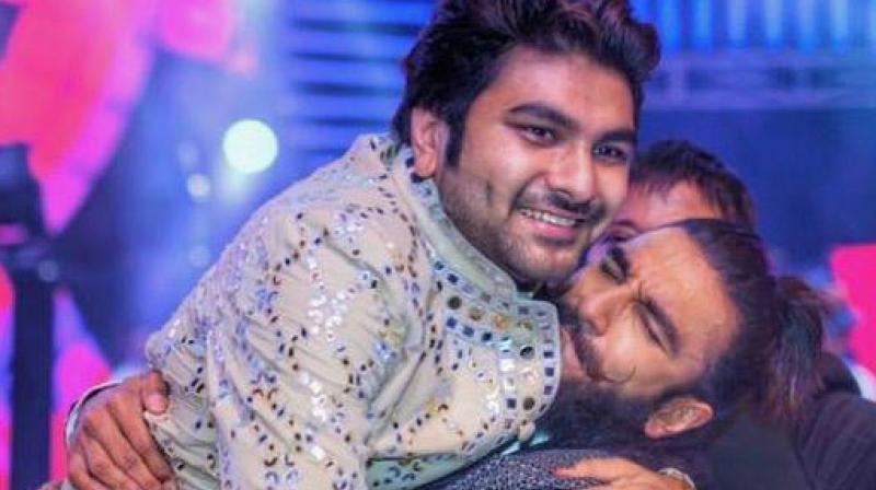 Vivek Kothari with Bollywood actor Ranveer Singh.