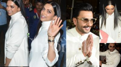 Just a few days from now, Deepika Padukone and Ranveer Singh will be officially married and the fans are waiting for the big day with bated breaths. The 'Wedding of the Year' is set to take place on November 14 and 15 in Italy. Deepika and Ranveer were spotted leaving Mumbai in the wee hours of Saturday morning. Check out exclusive photos here. (Pictures: Viral Bhayani)
