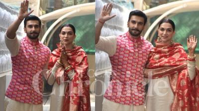 Deepika Padukone and Ranveer Singh, who got married at Lake Como in Italy earlier this week, have finally returned in Mumbai. Thousands of fans flooded the airport exit to catch a glimpse of the newlyweds. Check out the photos here. (Pictures: Viral Bhayani)