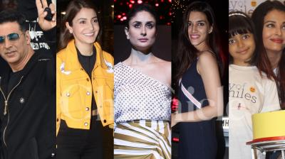 Bollywood stars Akshay Kumar, Kareena Kapoor Khan, Anushka Sharma, Kriti Sanon, Vidya Balan, Aishwarya Rai Bachchan, Kartik Aaryan, Tiger-Disha and others were spotted in the city. Check out the latest and exclusive photos here. (Pictures: Viral Bhayani)