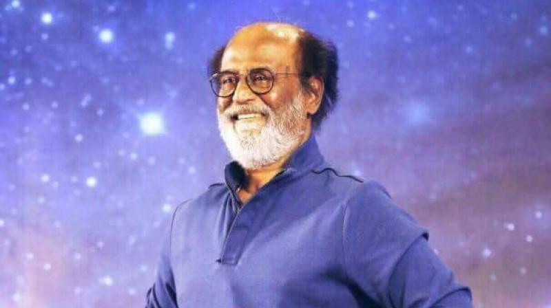 Rajinikanth during his interaction with fans in Chennai.