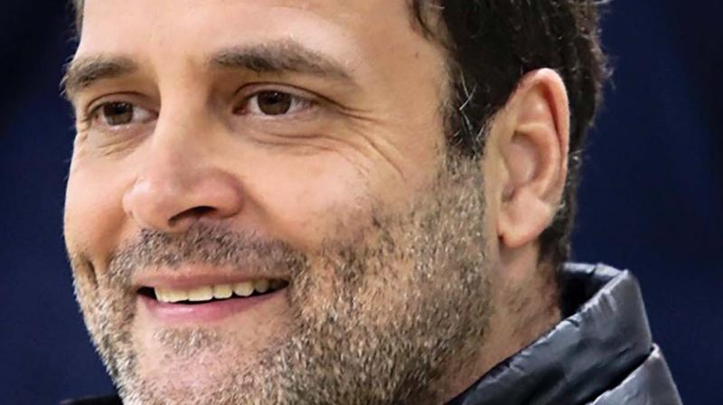 Congress focuses primarily on five issues- jobs, minimum income, education, farming - in its manifesto for national elections. (Photo: File)