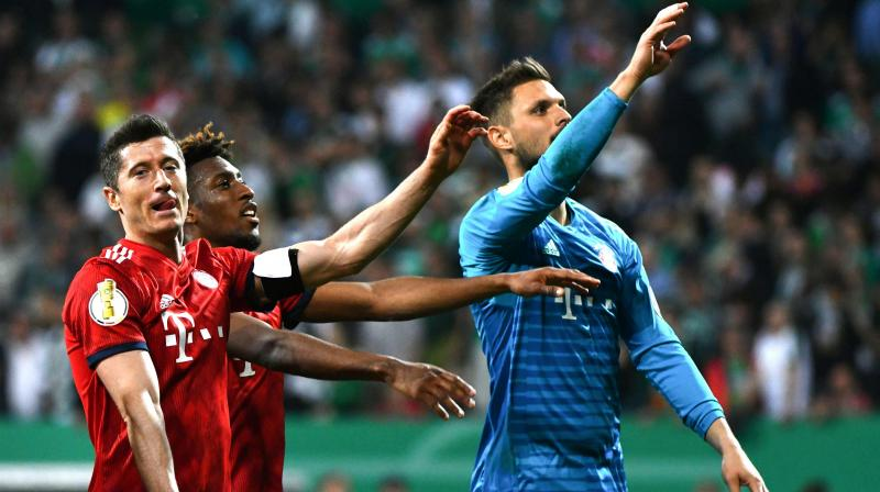 Werder scored twice in two minutes to come back from two goals down to level at 2-2 before Lewandowski hit an 80th minute penalty to secure victory for Bayern. (Photo: AFP)