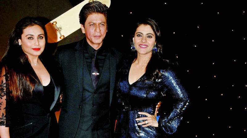 Shah Rukh Khan with Rani Mukerji and Kajol