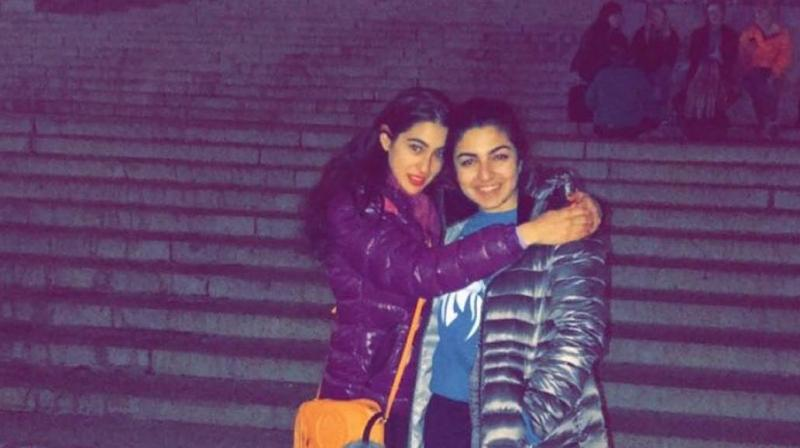 Sara Ali Khan with her friend at Columbia University. (Photo: Instagram)