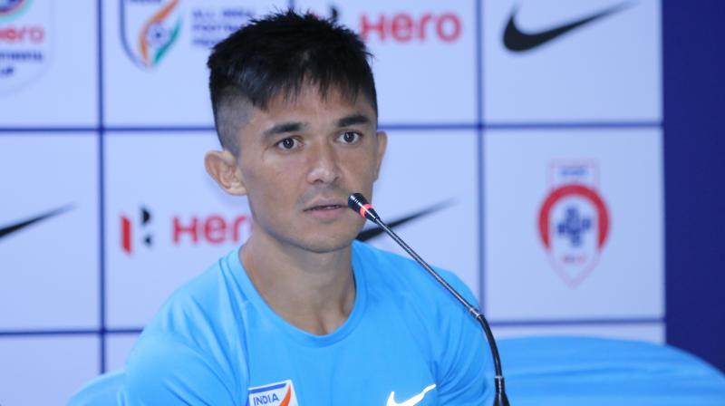 Indian football star Sunil Chhetri surprised by fans' reaction on