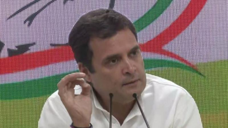 'I do not want to prejudge the judgement of Indian people. We will take the decision on the basis of what people decide,' Rahul Gandhi said. (Photo: ANI)