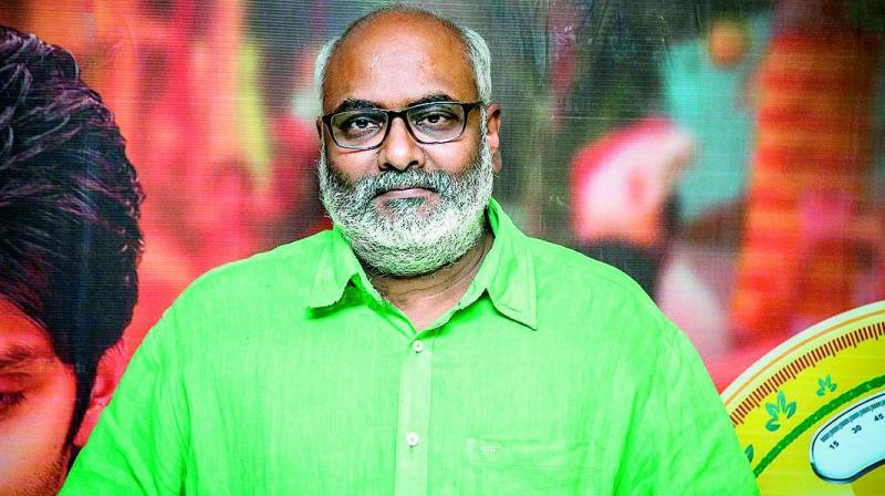 The composer, who hadn't taken up any other work during his stint with S.S. Rajamouli's Baahubali franchise, seems to be getting busy again.