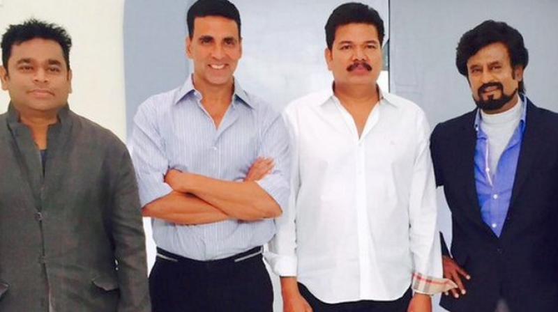 Rajinikanth, Akshay Kumar,  Shankar and Rajinikanth.