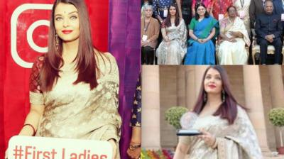 Aishwarya Rai Bachchan was among 112 women to be felicitated by the President of India at an event held in New Delhi on Saturday. (Photo: Instagram)