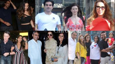 Bollywood stars gave paparazzi a busy time in Mumbai on Monday by stepping out in the city. (Photos: Viral Bhayani)