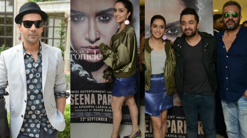 Teams of upcoming films 'Haseena Parkar' and 'Newton' held promotional events in New Delhi on Monday for promotions. (Photo: Viral Bhayani)