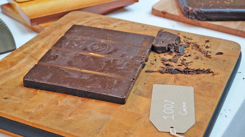 There are two kinds of chocolate making process - one is where you buy bulk chocolate and melt it and pour into a mould or a chocolate bar and then sell it. Majority of the chocolate makers follow this process and are called Chocolatiers.