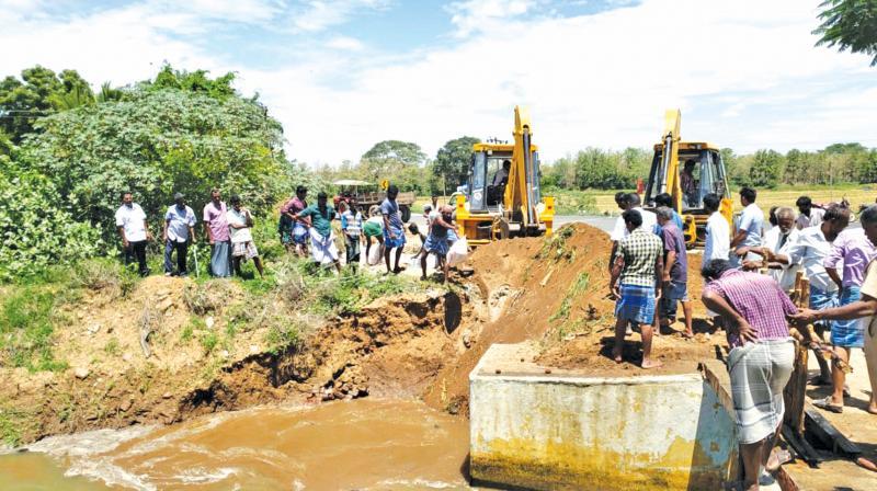 The canal irrigates 4,000 acres of land in Karupur, Kabisthalam, Koonanchery, Narasimhapuram, Adhanur, Thirumandankudi, Olaipadi and Erumjaipatti villages.