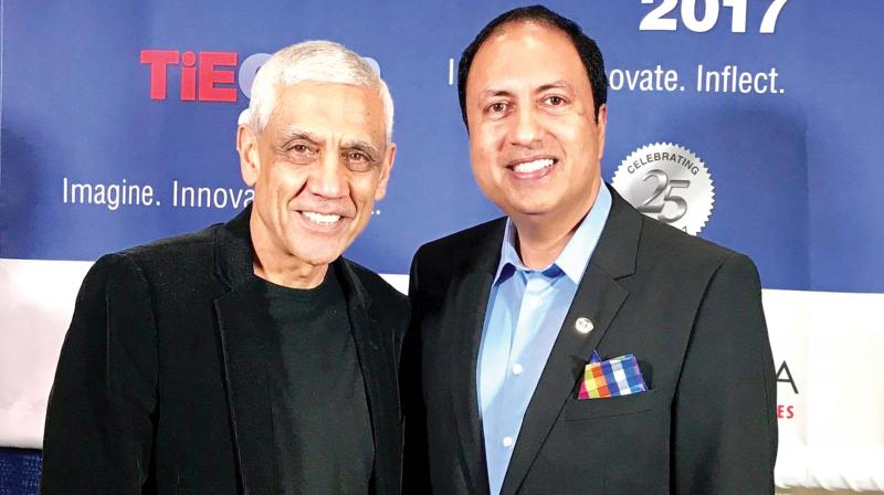 B.J. Arun with Vinod Khosla