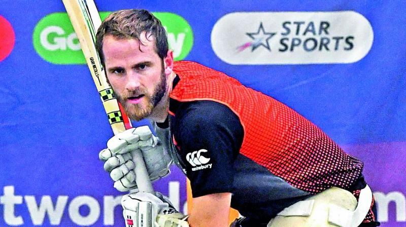 New Zealand captain Kane Williamson trains in Birmingham on Tuesday.  (Photo: AFP)