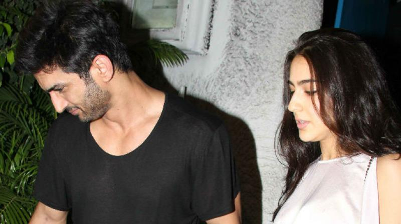 Sushant Singh Rajput and Sara Ali Khan were recently spotted along with their director Abhishek Kapoor over dinner.