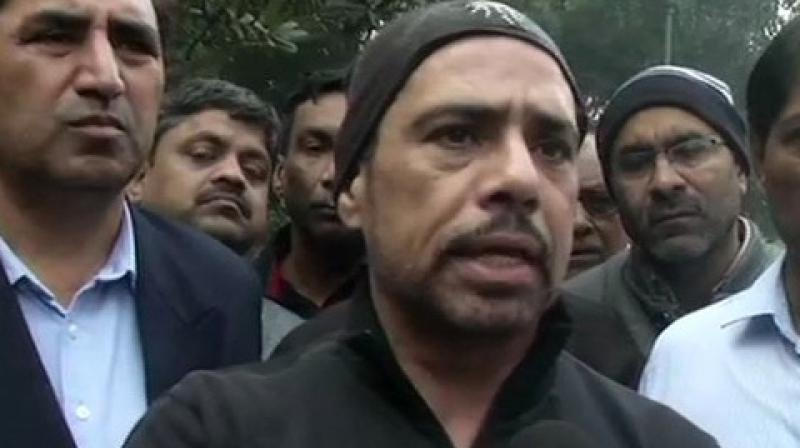 'Will not allow my name to be used for political blackmail, have always maintained that we will cooperate, but the process should be fair and legal. I am not running away or going to live in some other country,' Vadra told ANI. (Photo: ANI)