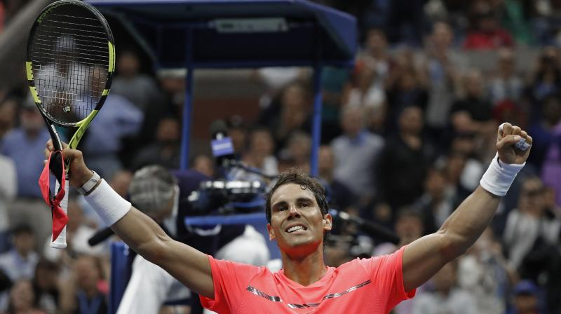 The top-seeded Nadal wrapped up the rout in just over 90 minutes against Russian teenager Andrey Rublev. (Photo: AP)