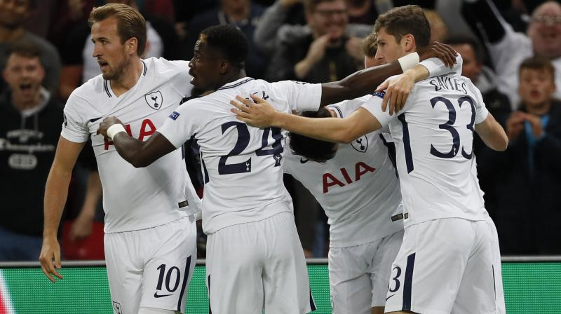 But, after losing eight of their previous 12 matches at Wembley, Kane's predatory finishing ensured Tottenham finally enjoyed a night to remember in their temporary lodgings.(Photo: AP)