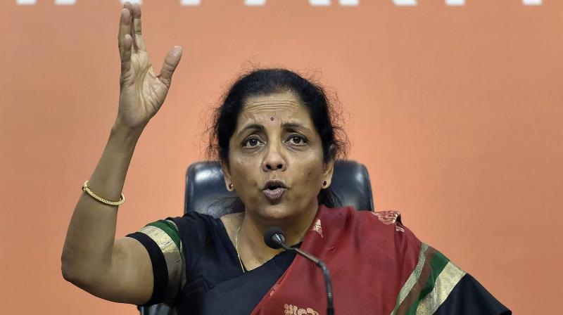 Nirmala Sitharaman said the weapon systems, avionics and other key add-ons to the Rafale aircraft will be 'much superior' in comparison to what was negotiated by the UPA. (Photo: File | PTI)