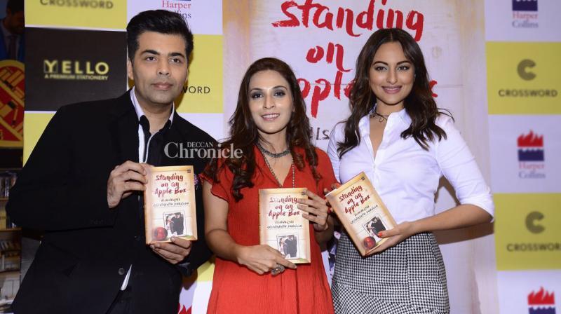 Karan Johar and Sonakshi Sinha launched Aishwaryaa Rajinikanth Dhanush's new book in Mumbai on Friday. (Photo: Viral Bhayani)