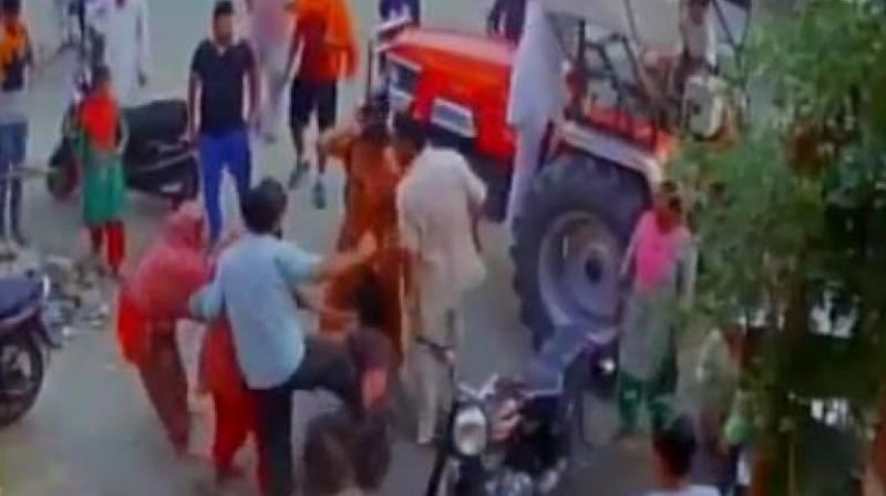 Pathankot terror attack martyr Kulwant Singh's younger brother and his wife were thrashed by a travel agent and his accomplices on Monday, May 15 over a monetary dispute. (Photo: ANI/Twitter)