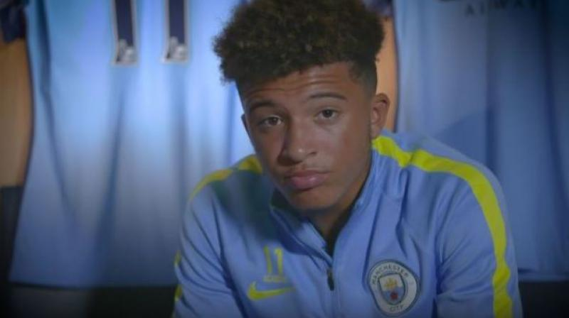 Borussia Dortmund's Jadon Sancho won the Player of the Tournament award during the Euros U-17 in May. (Photo: Screengrab)